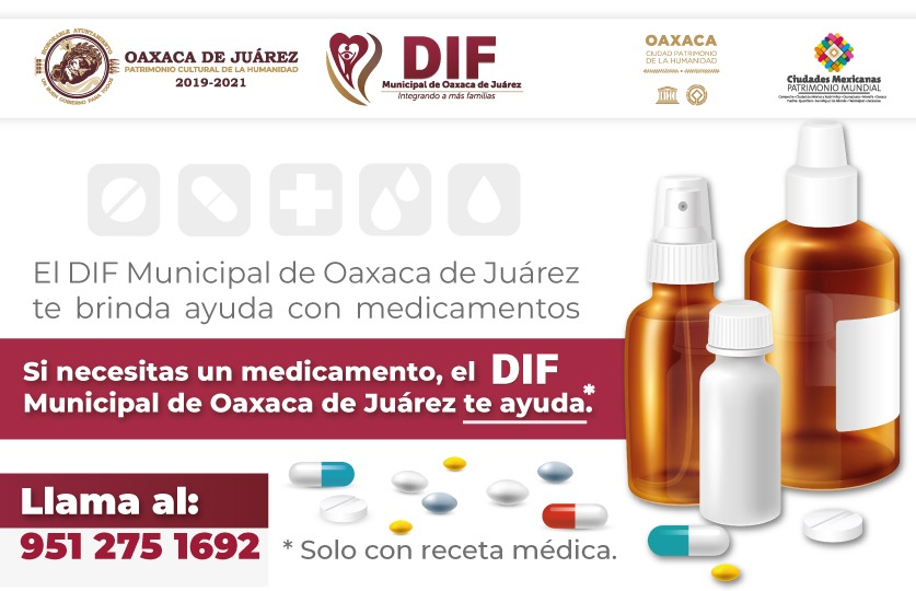 Ofrece DIF de Oaxaca de Juárez medicamentos gratuitos en apoyo a sectores vulnerables