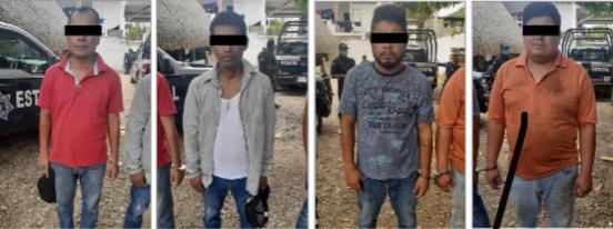 En el Papaloapan, asegura Policía Estatal a presuntos integrantes de un grupo delictivo