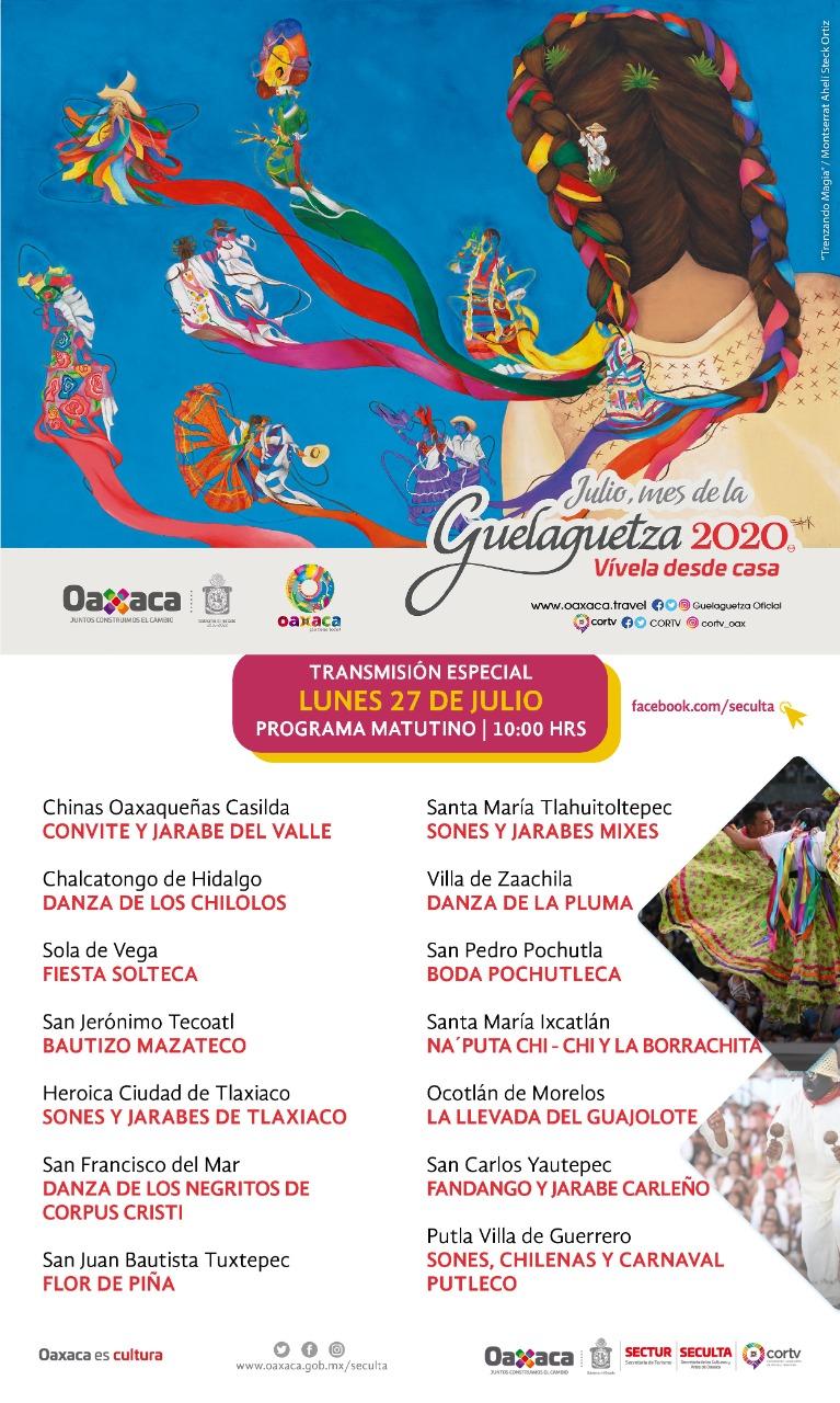 """Invita Gobierno del Estado de Oaxaca a disfrutar de la""""Guelaguetza ..."""